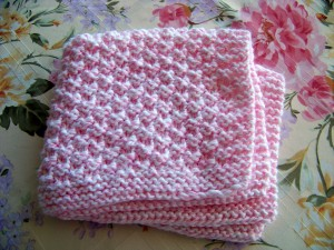 Box Stitch Preemie Baby Blanket