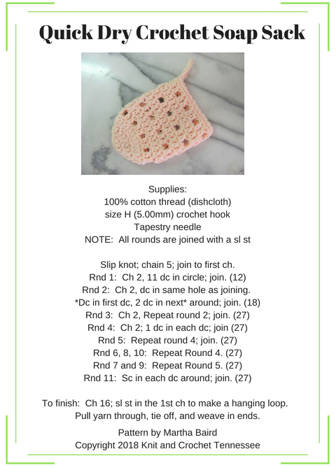 Quick Dry Crochet Soap Sack